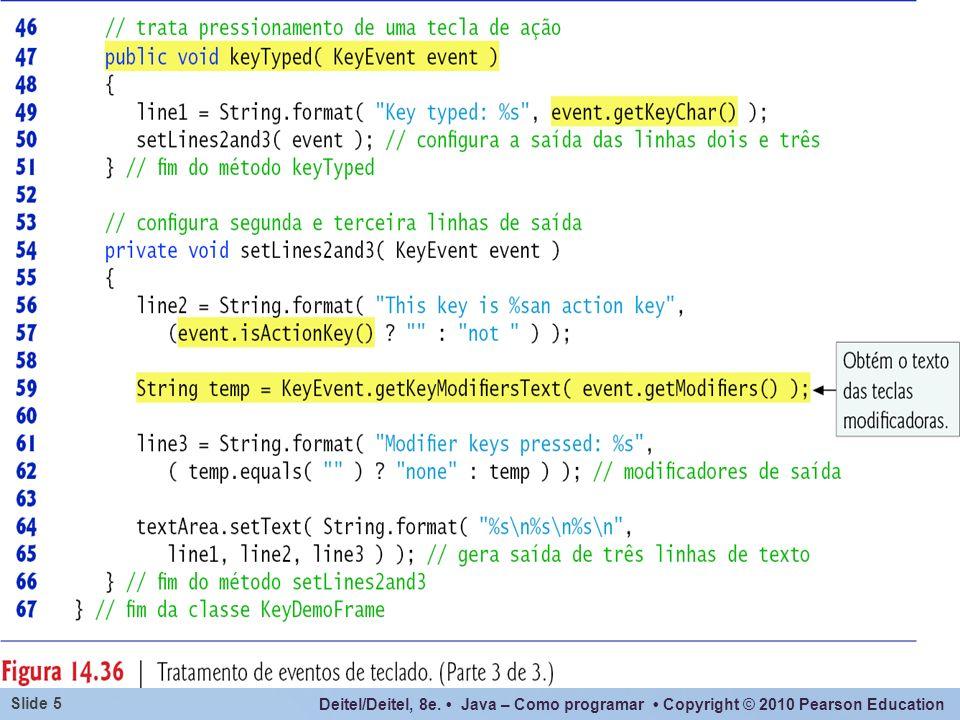 Deitel/Deitel, 8e. Java – Como programar Copyright © 2010 Pearson Education Slide 46