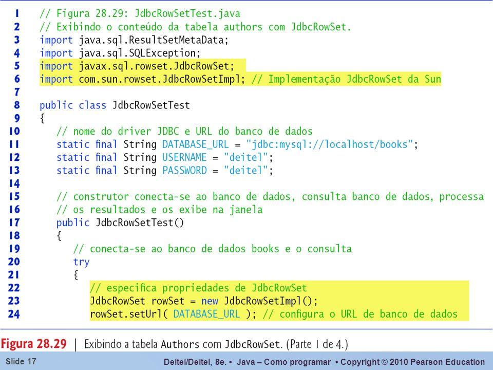 Deitel/Deitel, 8e. Java – Como programar Copyright © 2010 Pearson Education Slide 17