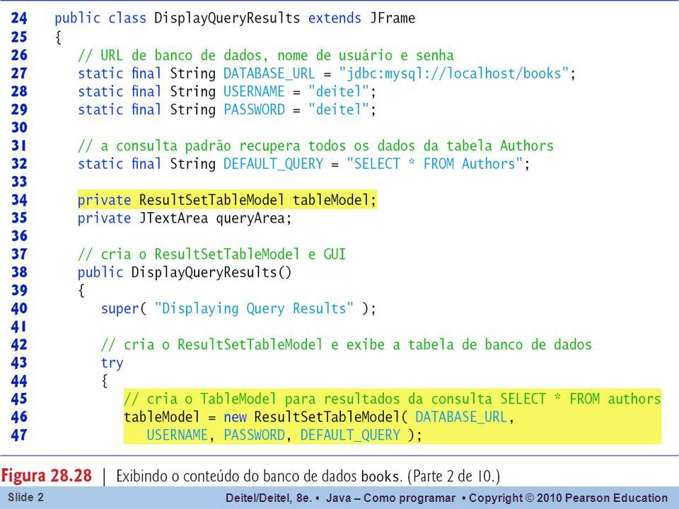 Deitel/Deitel, 8e. Java – Como programar Copyright © 2010 Pearson Education Slide 2