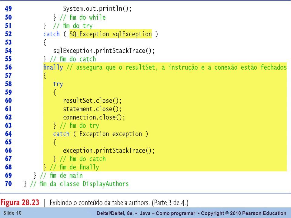 Deitel/Deitel, 8e. Java – Como programar Copyright © 2010 Pearson Education Slide 10