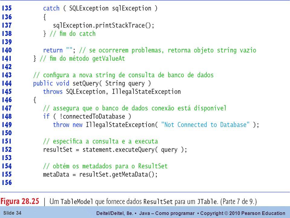 Deitel/Deitel, 8e. Java – Como programar Copyright © 2010 Pearson Education Slide 34