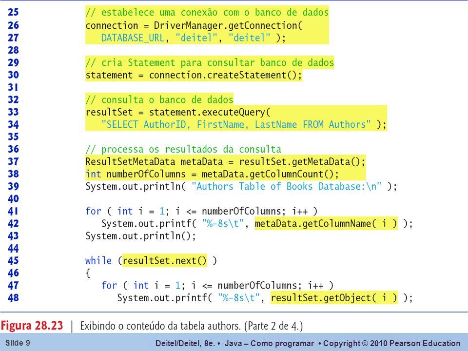 Deitel/Deitel, 8e. Java – Como programar Copyright © 2010 Pearson Education Slide 9