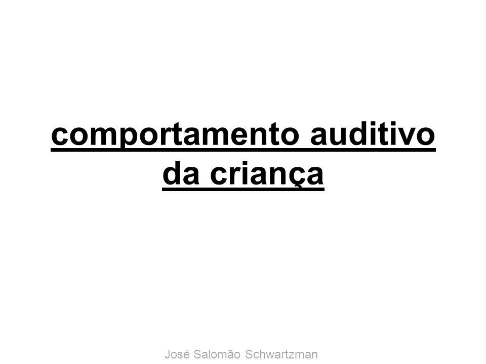 comportamento auditivo da criança José Salomão Schwartzman