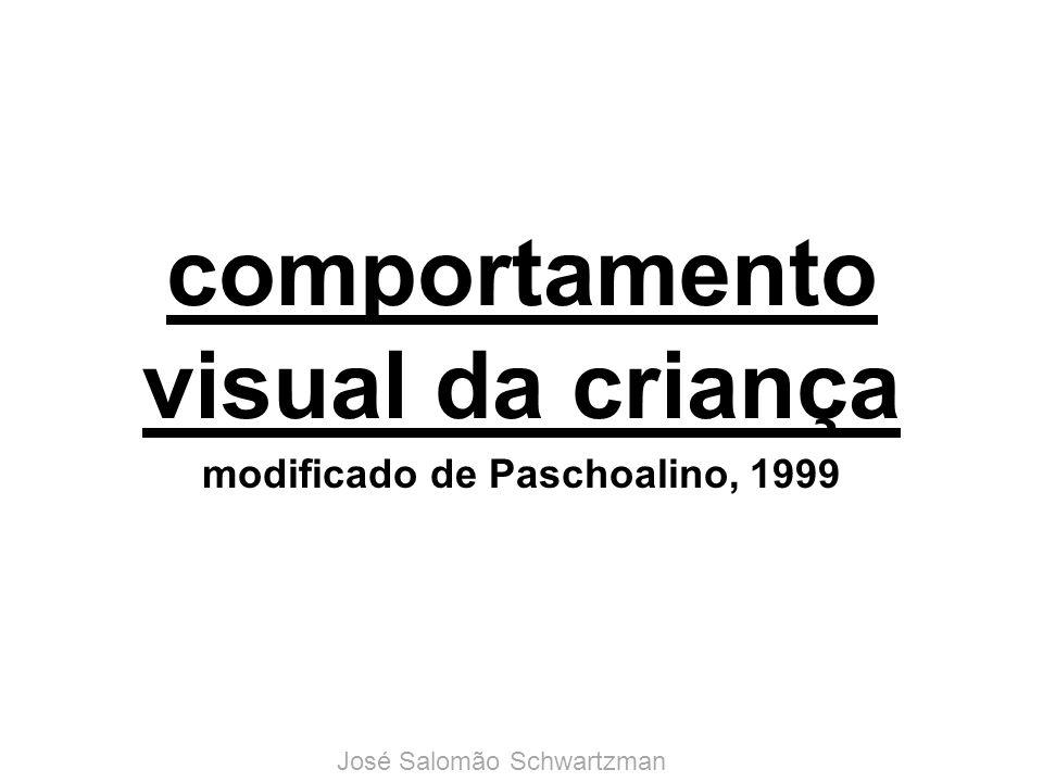 comportamento visual da criança modificado de Paschoalino, 1999 José Salomão Schwartzman