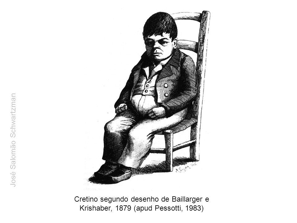 Cretino segundo desenho de Baillarger e Krishaber, 1879 (apud Pessotti, 1983) José Salomão Schwartzman