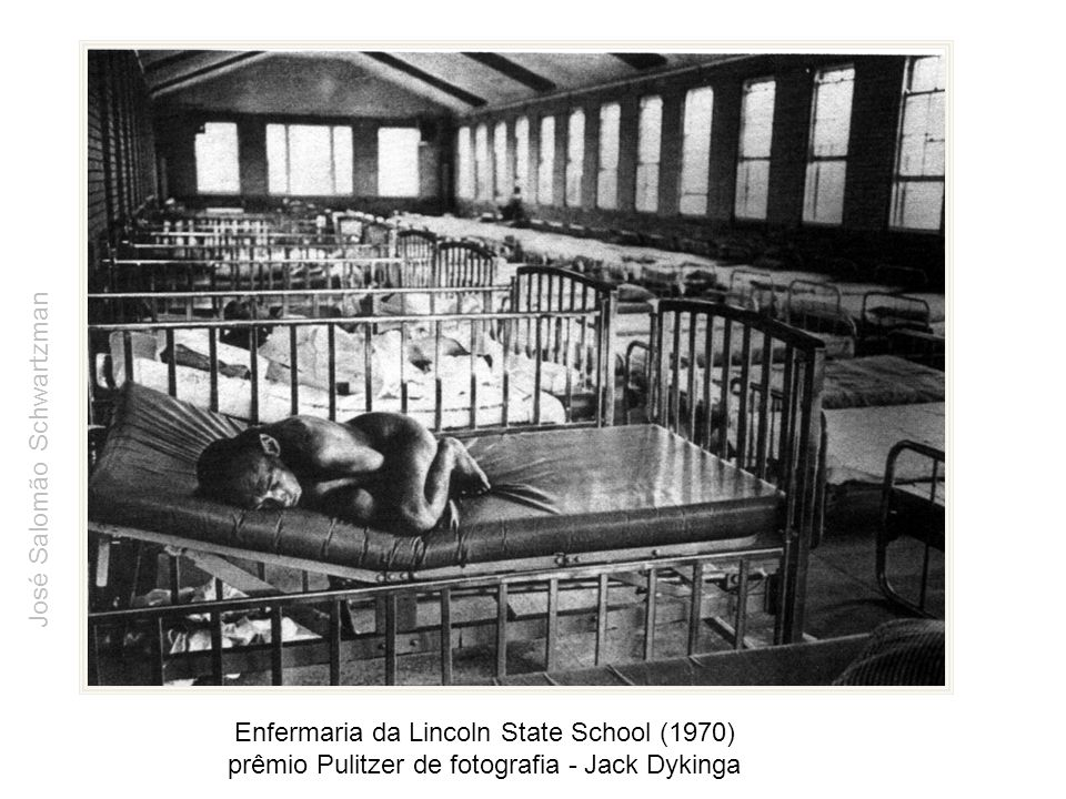 Enfermaria da Lincoln State School (1970) prêmio Pulitzer de fotografia - Jack Dykinga José Salomão Schwartzman