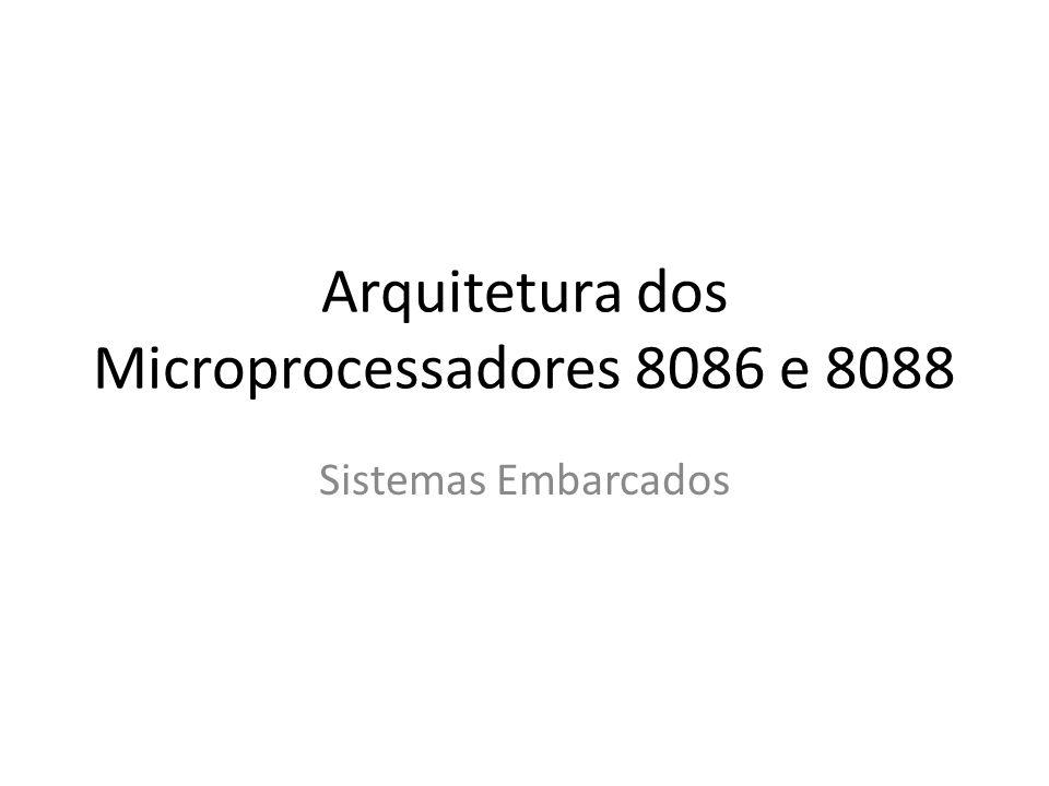 Arquitetura dos Microprocessadores 8086 e 8088 Sistemas Embarcados