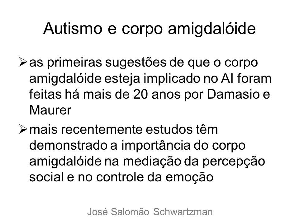 Autismo e corpo amigdalóide as primeiras sugestões de que o corpo amigdalóide esteja implicado no AI foram feitas há mais de 20 anos por Damasio e Mau