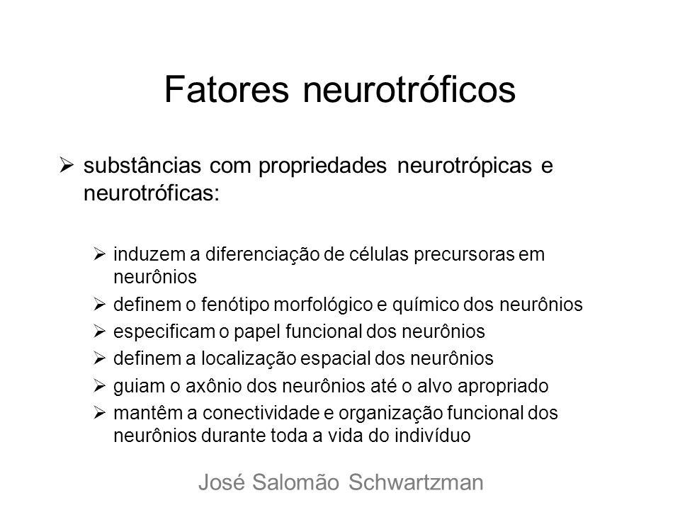 Fatores neurotróficos substâncias com propriedades neurotrópicas e neurotróficas: induzem a diferenciação de células precursoras em neurônios definem