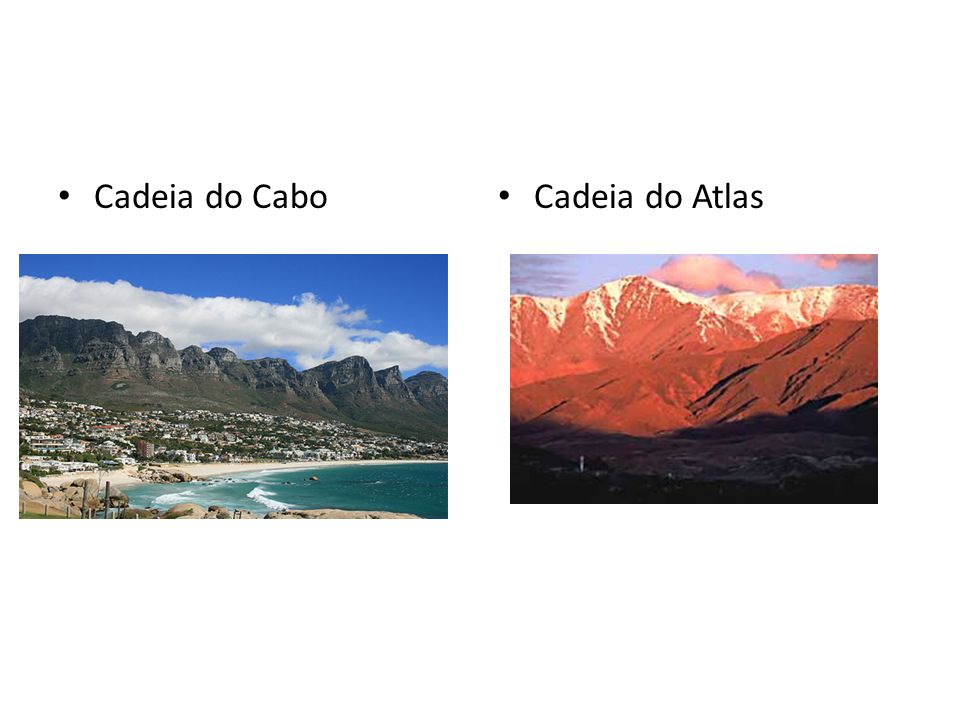 Cadeia do Cabo Cadeia do Atlas