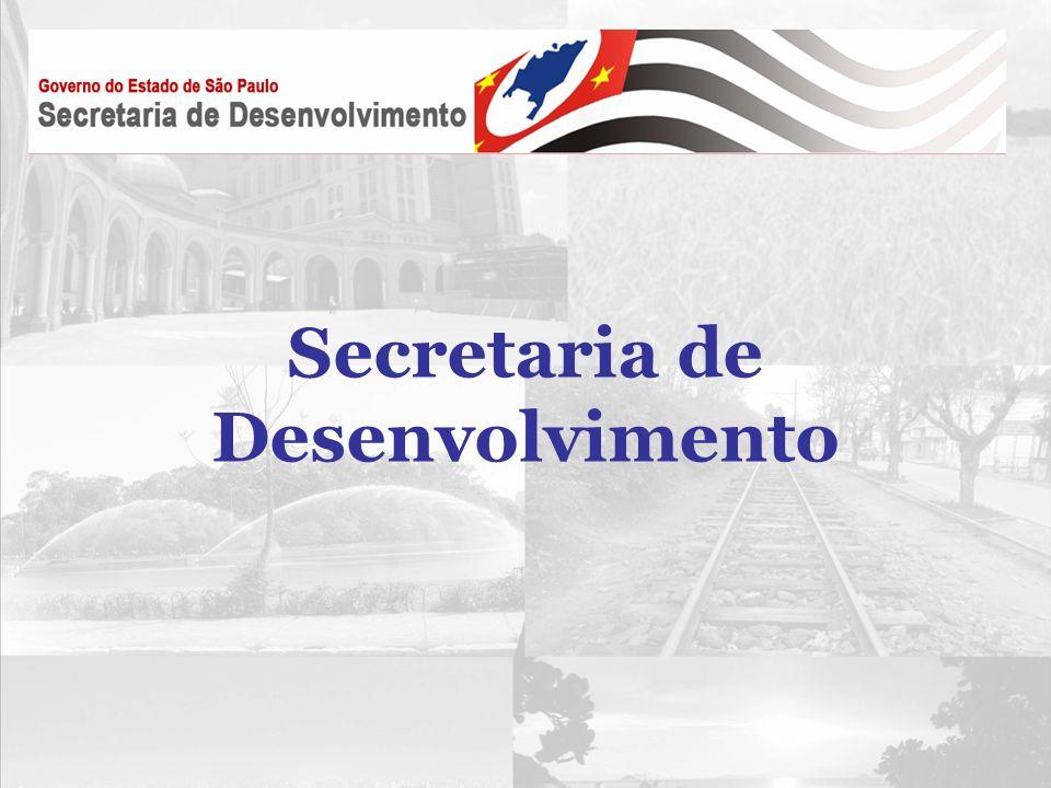 1.A Secretaria de Desenvolvimento Missão Promover o crescimento econômico sustentável e a inovação tecnológica no Estado de São Paulo, com políticas públicas voltadas à geração de empregos e ao aumento da competitividade do setor produtivo