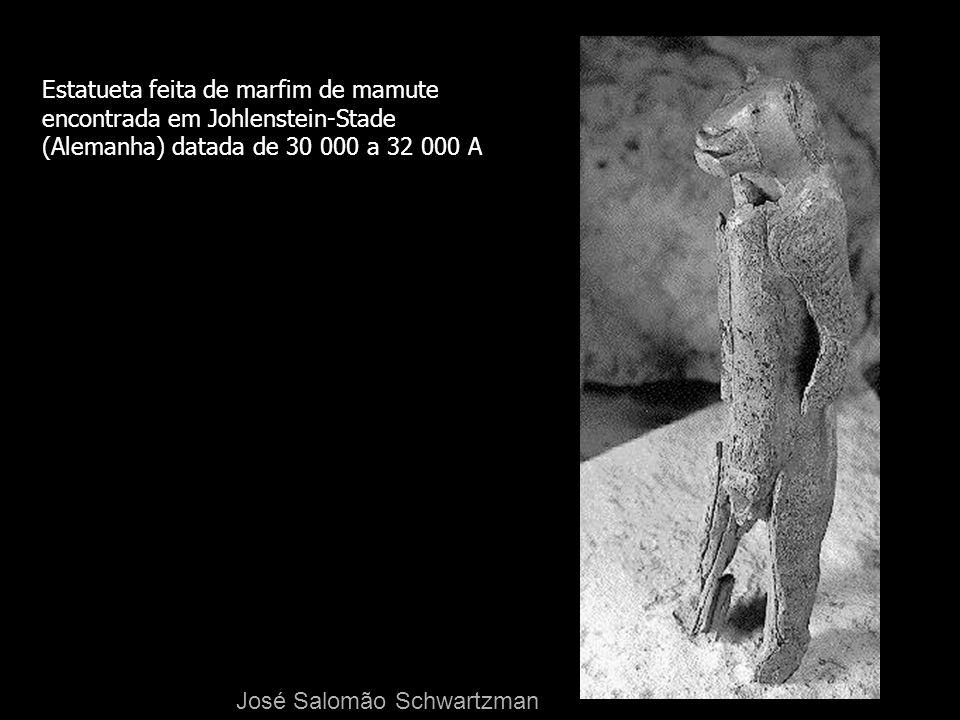 Estatueta feita de marfim de mamute encontrada em Johlenstein-Stade (Alemanha) datada de 30 000 a 32 000 A José Salomão Schwartzman
