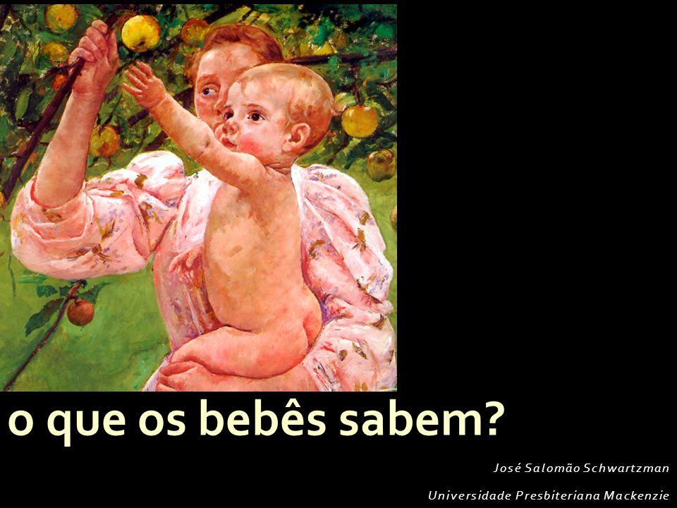 José Salomão Schwartzman Universidade Presbiteriana Mackenzie o que os bebês sabem?
