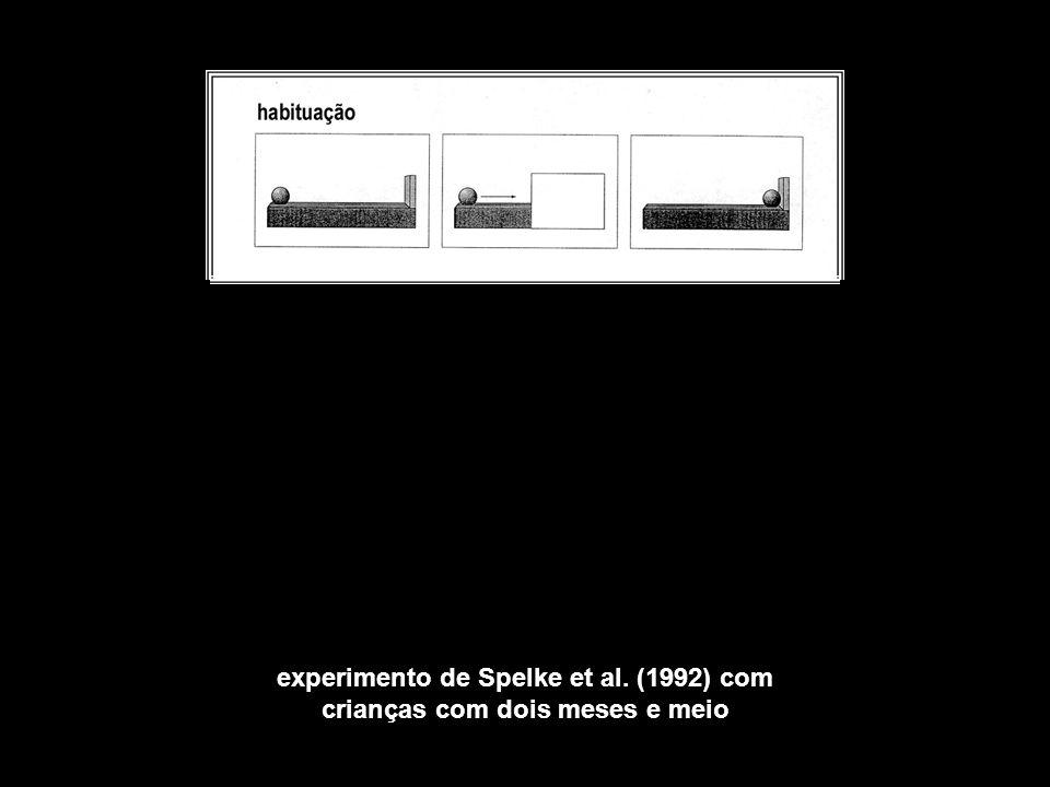 experimento de Spelke et al. (1992) com crianças com dois meses e meio