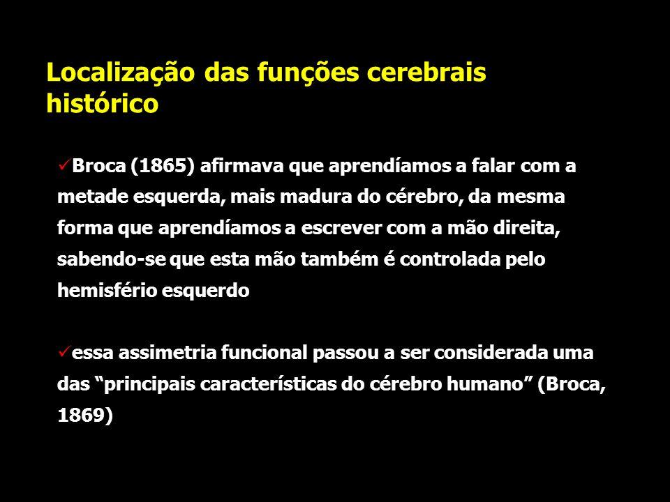 Localização das funções cerebrais histórico em pouco tempo foram publicados 32 casos clínicos que endossavam a tese de Broca, muito embora vários dele