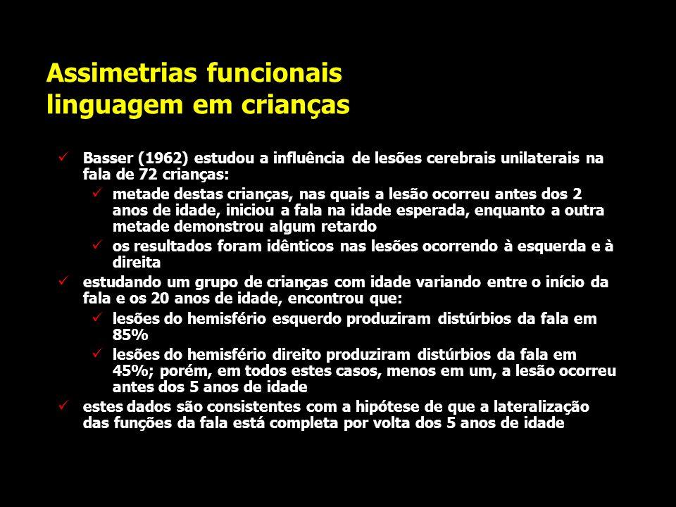 Assimetrias funcionais linguagem hemisferectomias em adultos a retirada cirúrgica do hemisfério esquerdo em pacientes adultos resulta, de início, em s
