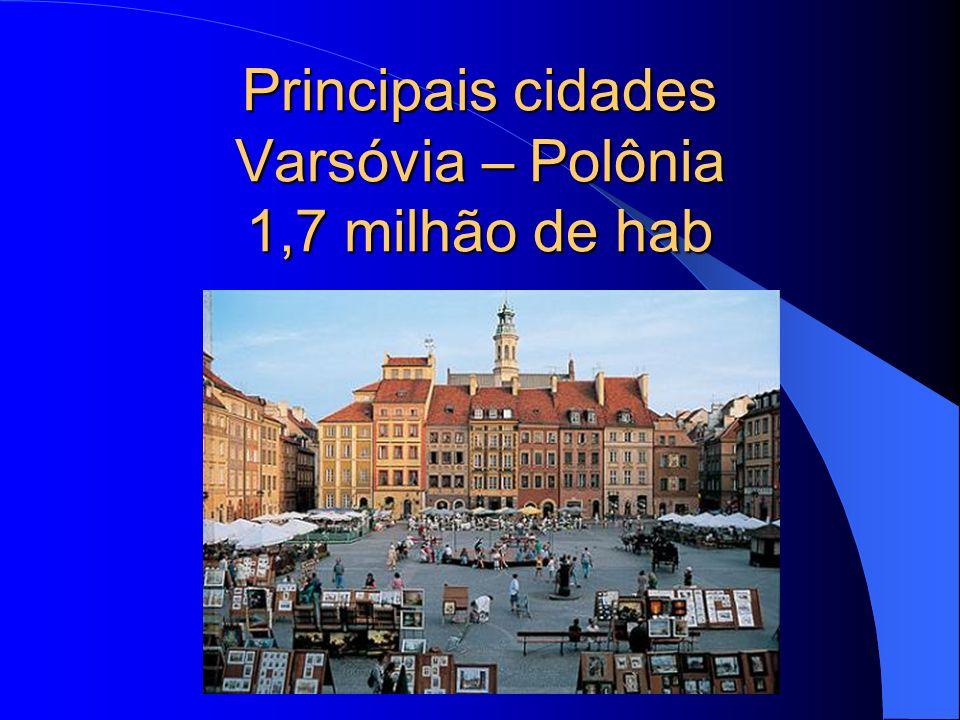 Principais cidades Varsóvia – Polônia 1,7 milhão de hab