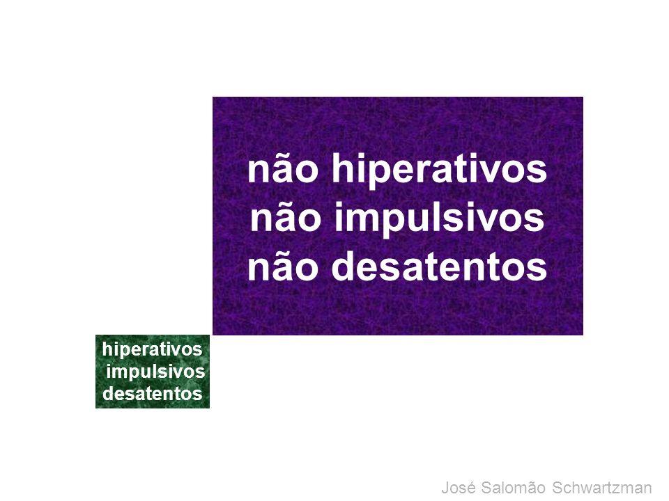 não hiperativos não impulsivos não desatentos hiperativos impulsivos desatentos TDAH: modelo discreto José Salomão Schwartzman