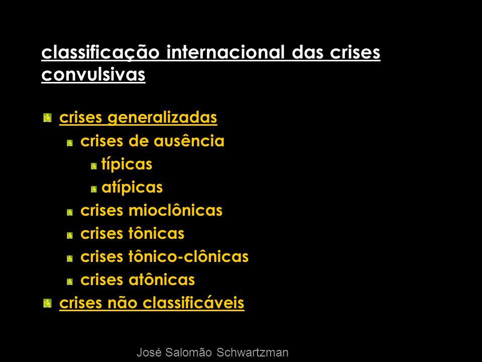 classificação internacional das crises convulsivas crises generalizadas crises de ausência típicas atípicas crises mioclônicas crises tônicas crises t