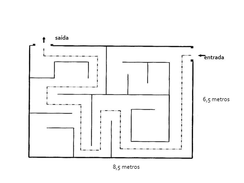 entrada saída 6,5 metros 8,5 metros