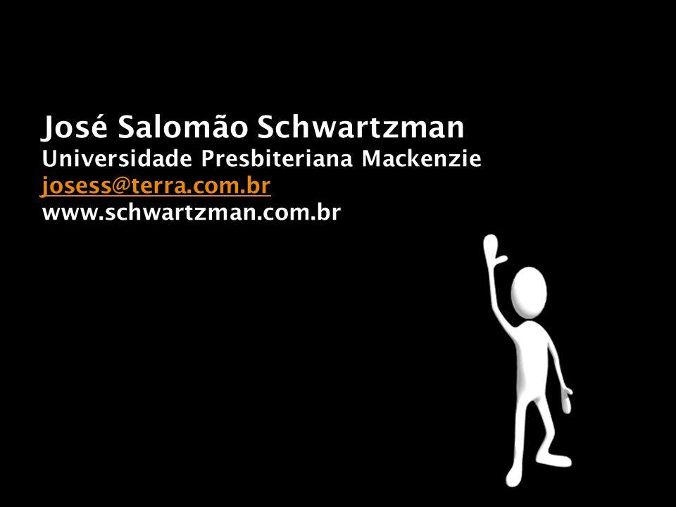 José Salomão Schwartzman Universidade Presbiteriana Mackenzie josess@terra.com.br www.schwartzman.com.br