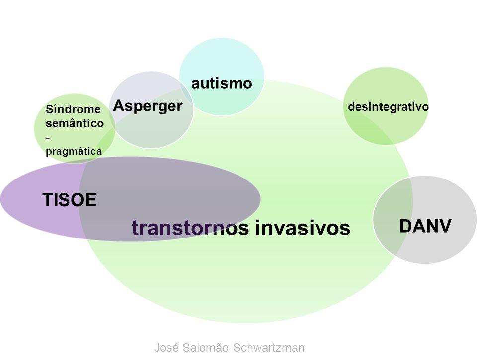 transtornos invasivos autismo Asperger desintegrativo TISOE Síndrome semântico - pragmática DANV José Salomão Schwartzman