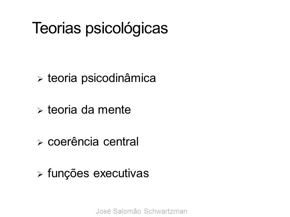 Teorias psicológicas teoria psicodinâmica teoria da mente coerência central funções executivas José Salomão Schwartzman