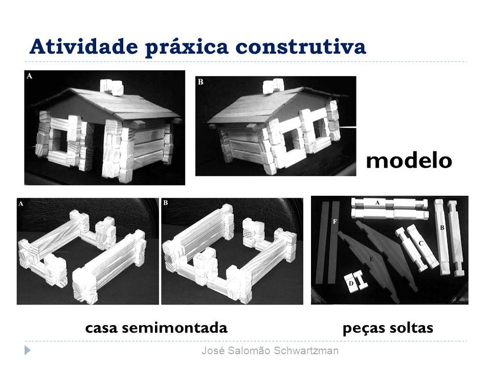 Atividade práxica construtiva modelo casa semimontadapeças soltas José Salomão Schwartzman