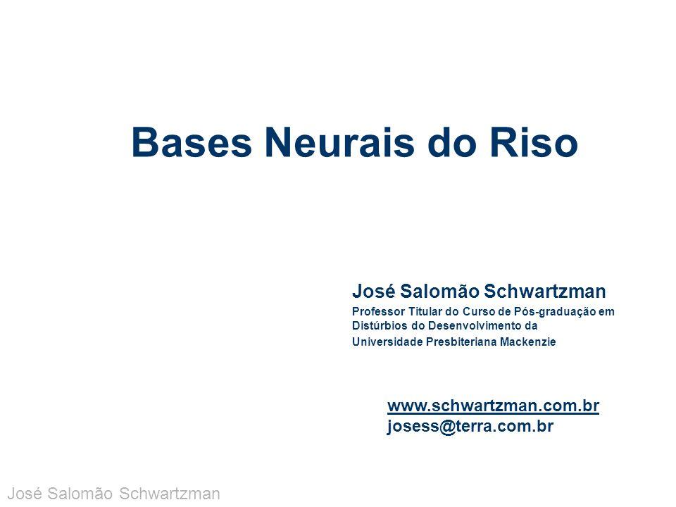 Riso patológico pode ser classificado do ponto de vista neuropatológico em: – doença do neurônio motor, paralisia vascular pseudo- bulbar e desordens motoras extrapiramidais – fou rire prodromique – fazendo parte de crises epilépticas José Salomão Schwartzman