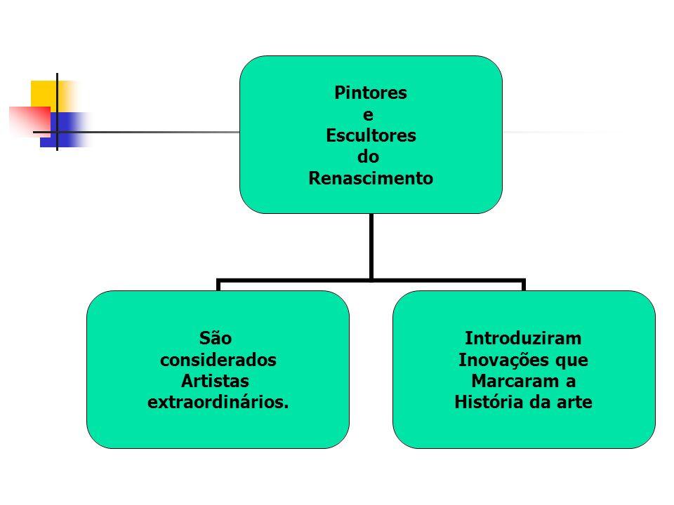 Pintores e Escultores do Renascimento São considerados Artistas extraordinários.
