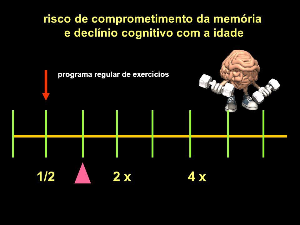 1/22 x4 x risco de comprometimento da memória e declínio cognitivo com a idade programa regular de exercícios