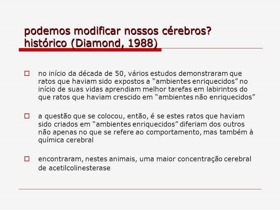 podemos modificar nossos cérebros? histórico (Diamond, 1988) no início da década de 50, vários estudos demonstraram que ratos que haviam sido expostos