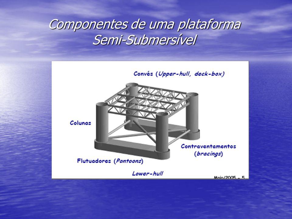 Componentes de uma plataforma Semi-Submersível