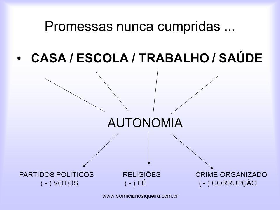 www.domicianosiqueira.com.br Promessas nunca cumpridas...