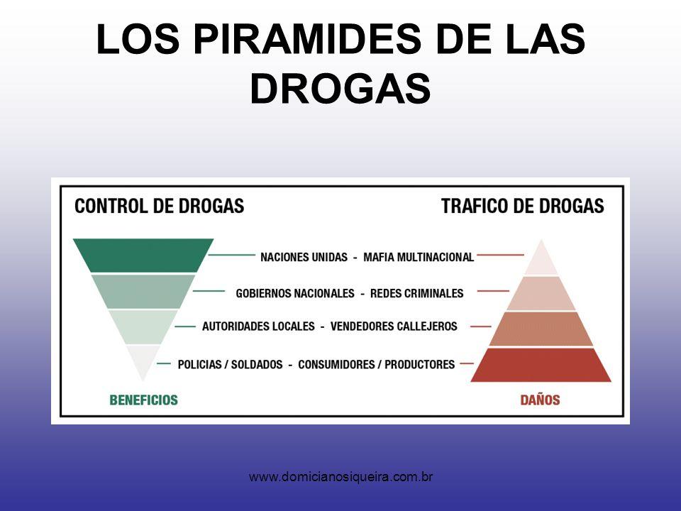 www.domicianosiqueira.com.br LOS PIRAMIDES DE LAS DROGAS