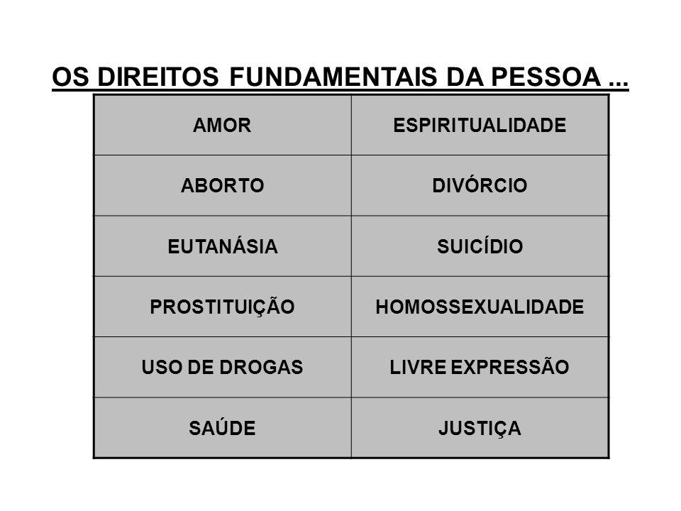 OS DIREITOS FUNDAMENTAIS DA PESSOA...