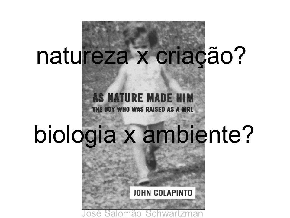 biologia x ambiente? José Salomão Schwartzman