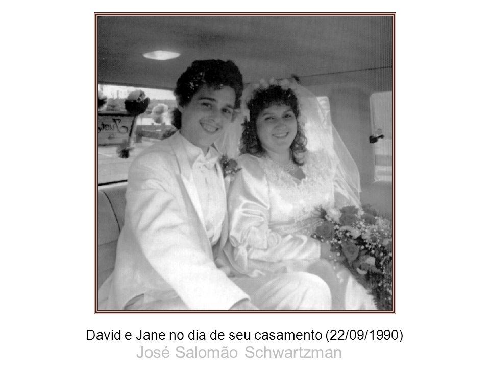 David e Jane no dia de seu casamento (22/09/1990) José Salomão Schwartzman