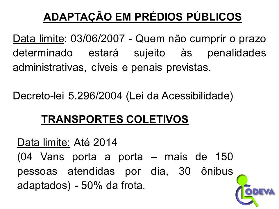 Data limite: 03/06/2007 - Quem não cumprir o prazo determinado estará sujeito às penalidades administrativas, cíveis e penais previstas. Decreto-lei 5