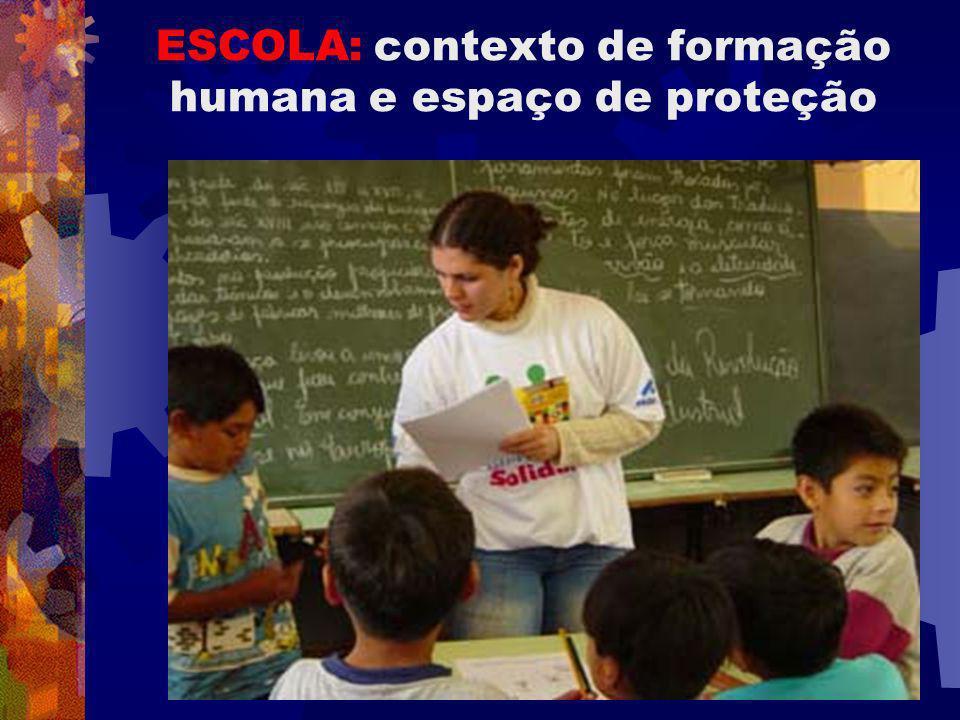 ESCOLA: contexto de formação humana e espaço de proteção