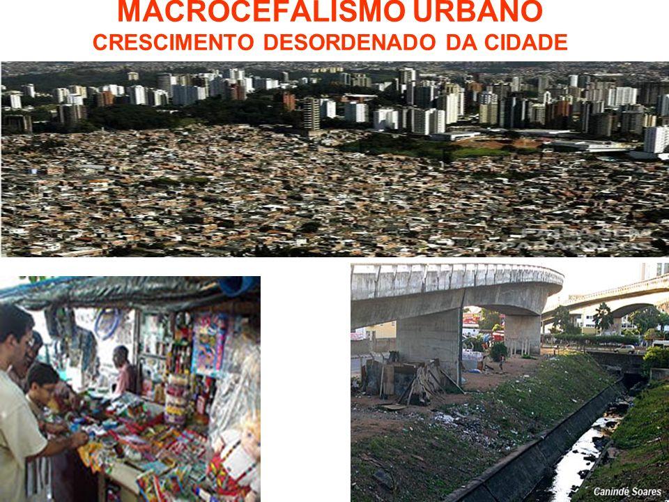 MACROCEFALISMO URBANO CRESCIMENTO DESORDENADO DA CIDADE