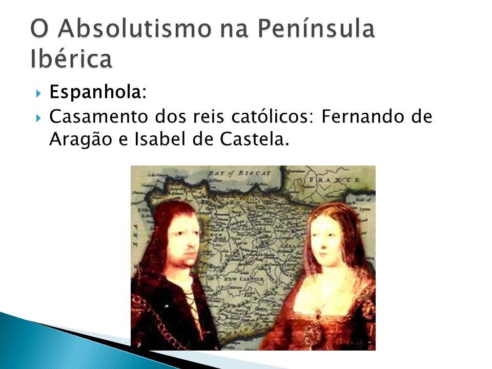 Espanhola: Casamento dos reis católicos: Fernando de Aragão e Isabel de Castela.