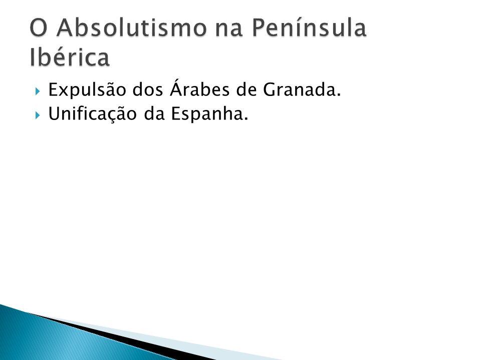 Expulsão dos Árabes de Granada. Unificação da Espanha.