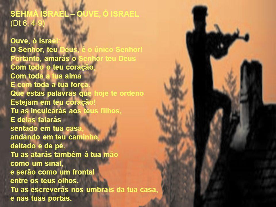 SEHMÁ ISRAEL – OUVE, Ó ISRAEL (Dt 6, 4-9) Ouve, ó Israel: O Senhor, teu Deus, é o único Senhor! Portanto, amarás o Senhor teu Deus Com todo o teu cora