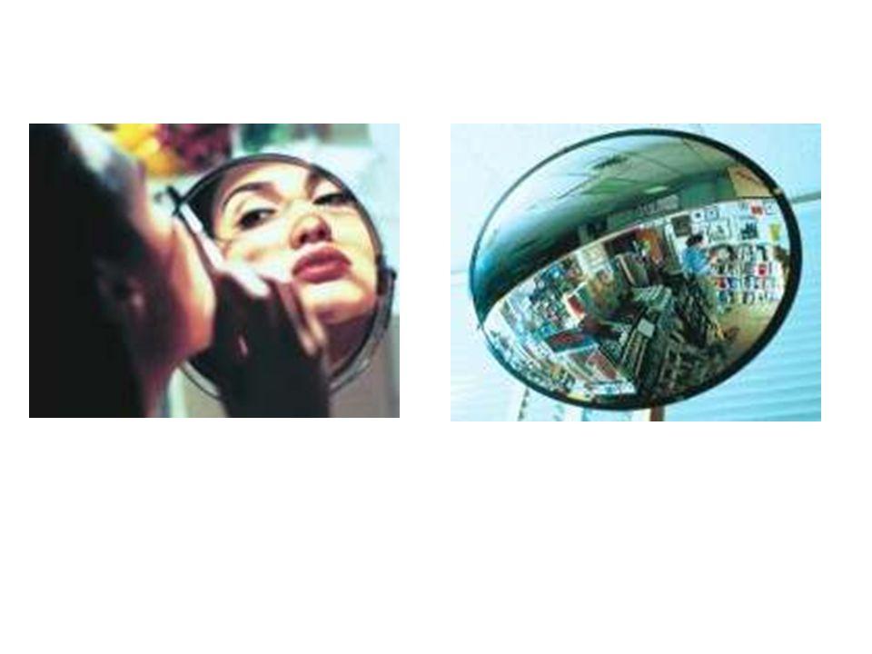 Tipos de espelhos esféricos CÔNCAVO CONVEXO