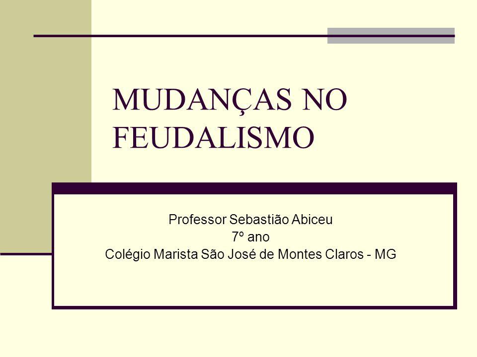 MUDANÇAS NO FEUDALISMO Professor Sebastião Abiceu 7º ano Colégio Marista São José de Montes Claros - MG