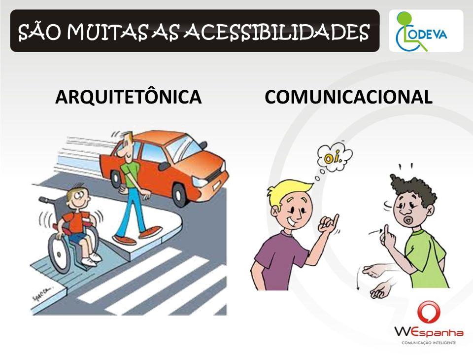 SÃO MUITAS AS ACESSIBILIDADES ARQUITETÔNICACOMUNICACIONAL