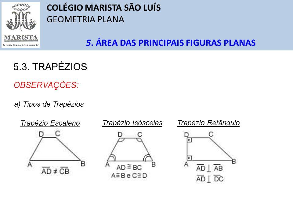 COLÉGIO MARISTA SÃO LUÍS GEOMETRIA PLANA QUESTÕES Solução: 1 1 Três segmentos de medidas 5cm, 6cm e 10cm determinam um triângulo obtusângulo.