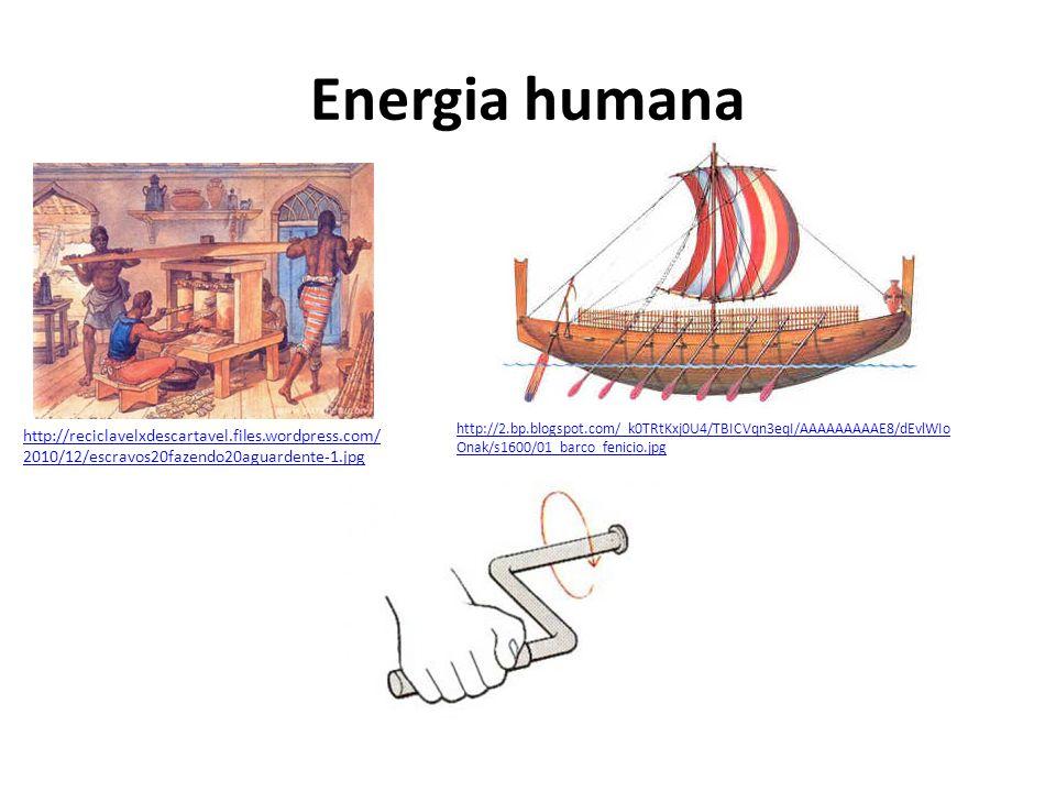 Energia humana http://reciclavelxdescartavel.files.wordpress.com/ 2010/12/escravos20fazendo20aguardente-1.jpg http://2.bp.blogspot.com/_k0TRtKxj0U4/TB