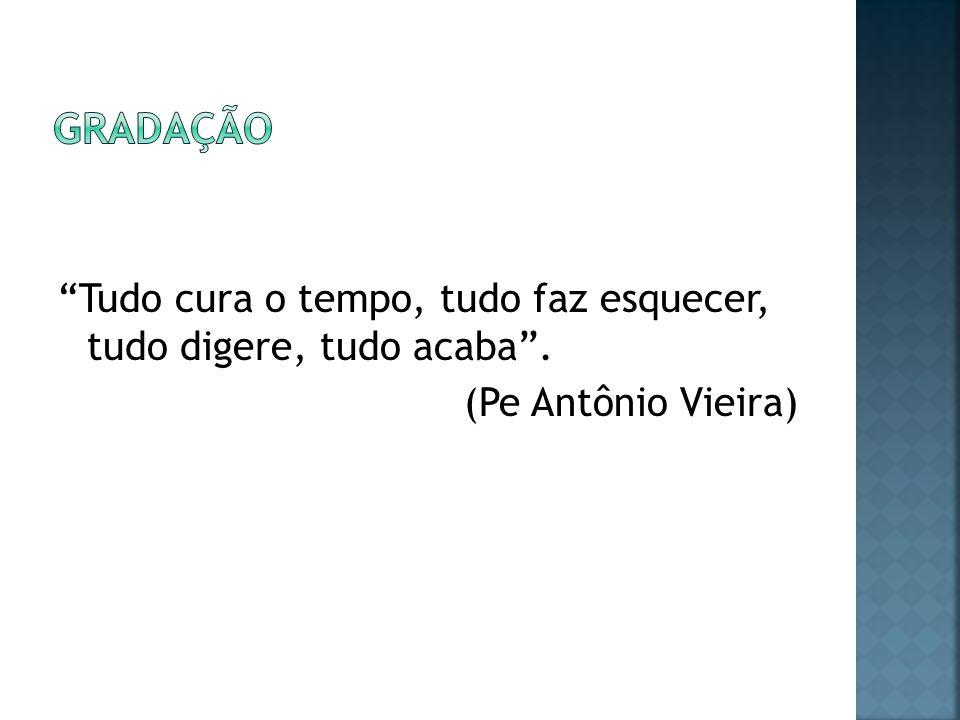 Tudo cura o tempo, tudo faz esquecer, tudo digere, tudo acaba. (Pe Antônio Vieira)